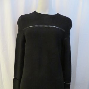 NWT 360 SWEATER BLACK LONG SLEEVE RIPPED SWEATER M
